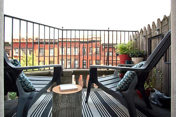 Modern New York balcony