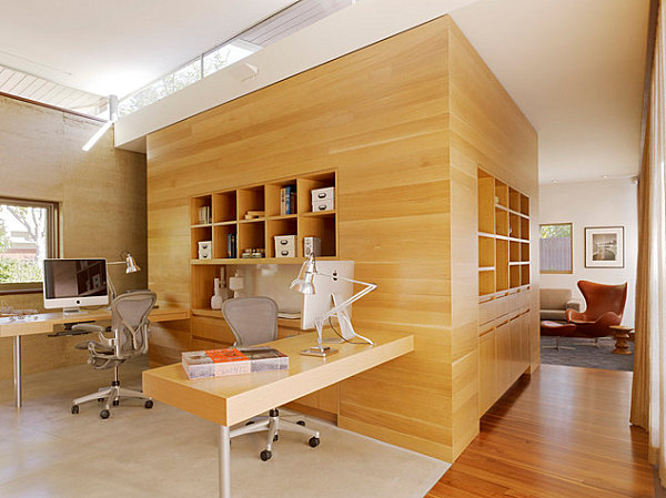 Modern airy home office