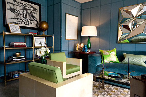 Modern blue living room How to Choose Paint Colors and Strategies