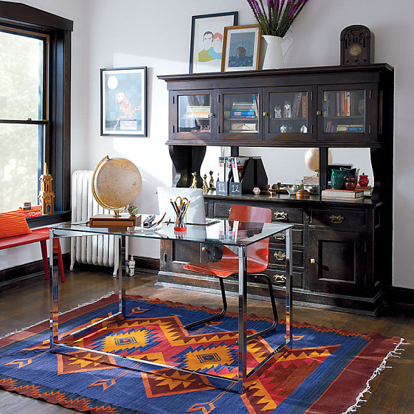 neutral office decor. View In Gallery Modern Eclectic Office Space Neutral Decor