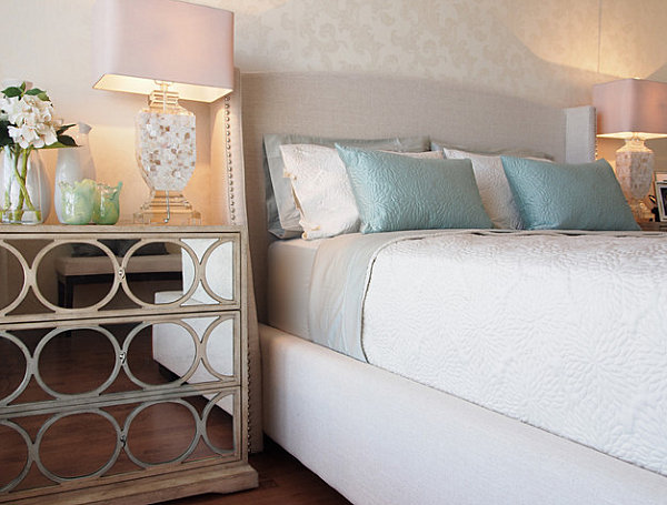 Modern elegance in a feminine bedroom