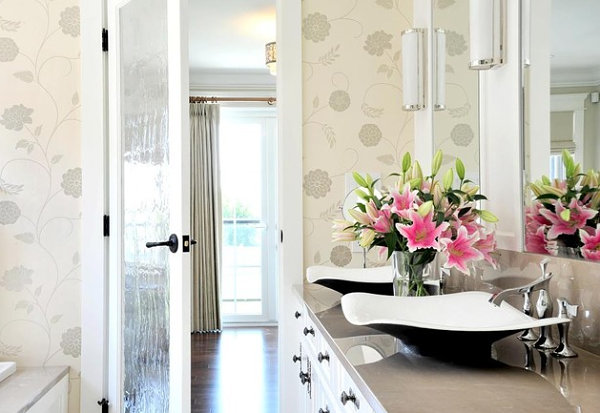 Modern floral bathroom