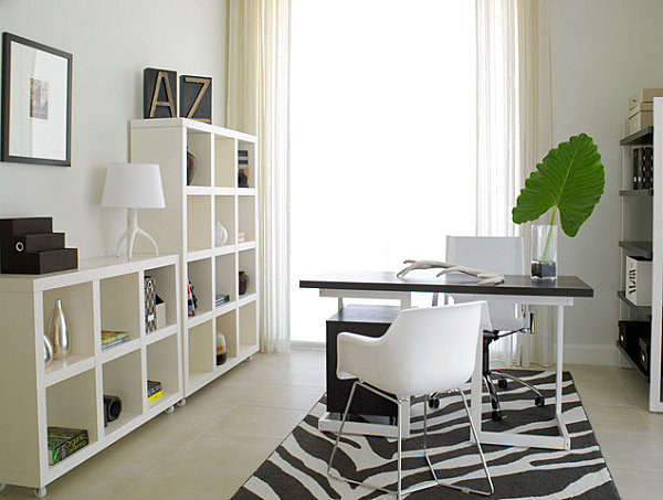 Modern glam home office