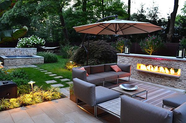 Modern outdoor seating