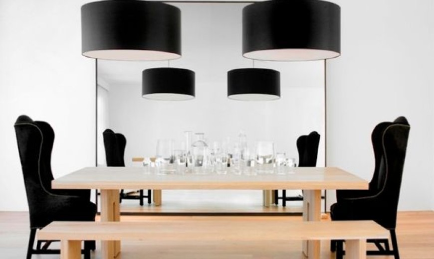 Dark radiance black lampshades assure bold and beautiful interiors dark radiance black lampshades assure bold and beautiful interiors with style aloadofball