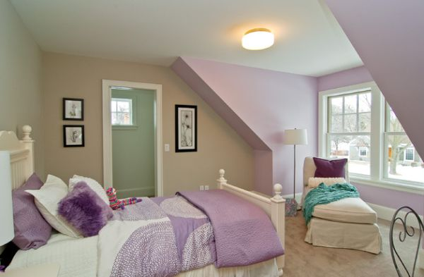 Next to pink, purple is the most popular accent color used in kids' rooms