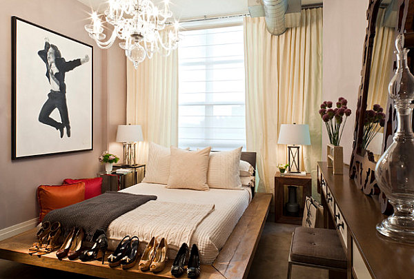 No-frills feminine bedroom