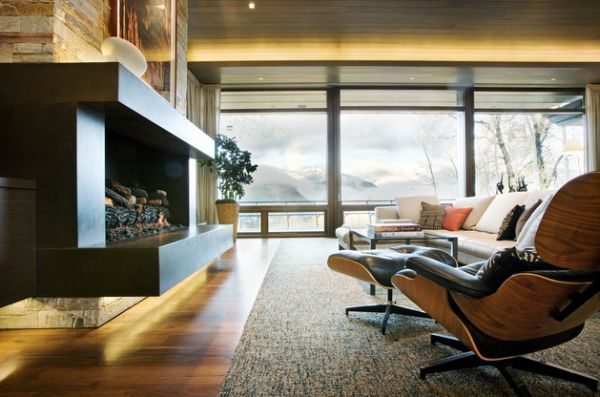 View In Gallery Placing The Eames Lounge Chair And Ottoman Next To The  Fireplace Seems To Be A Popular