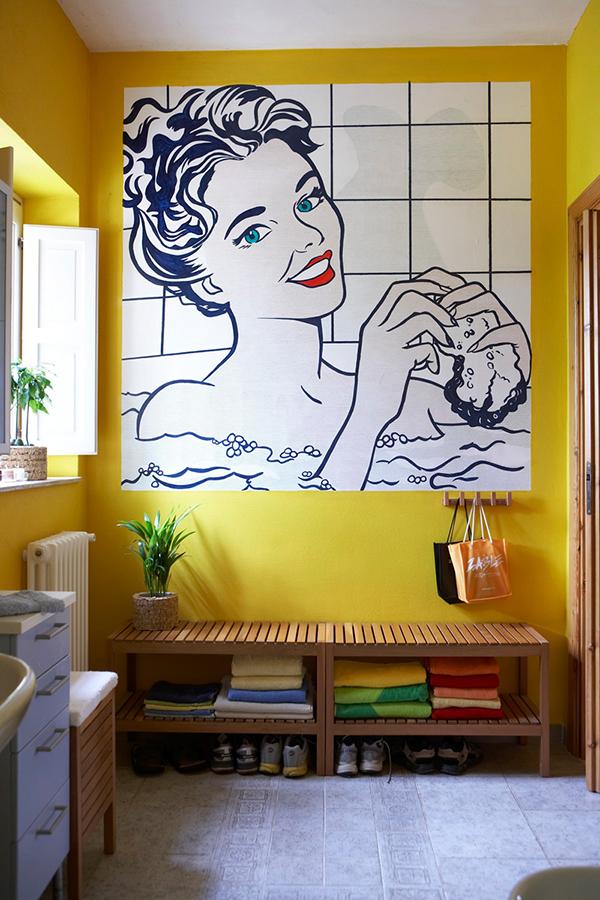 Pop Art Bathroom Mural