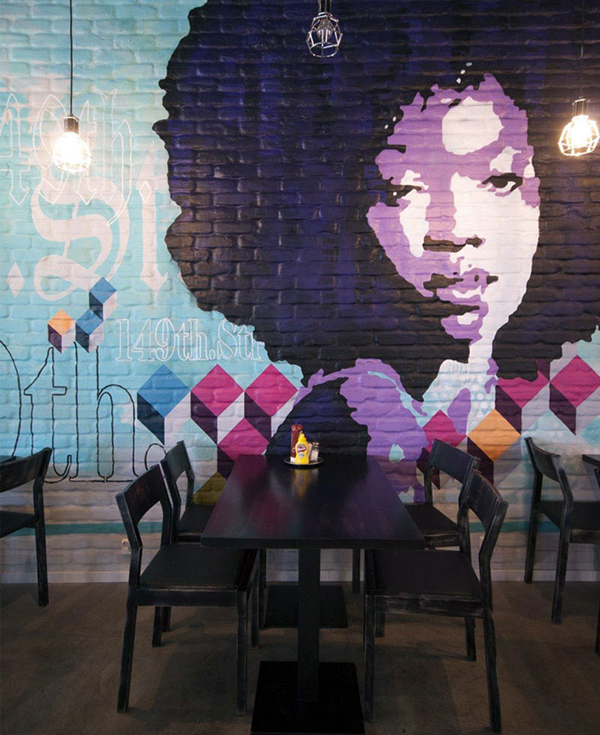 Pop Art Restaurant Mural