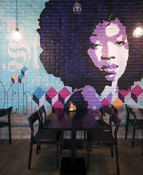 Pop Art Restaurant Mural