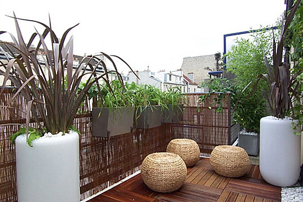 Private small balcony