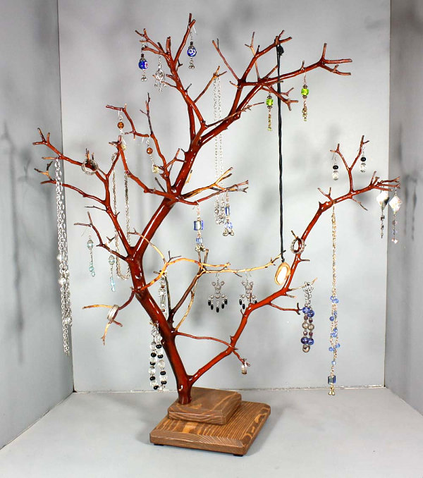Red Manzanita jewelry tree