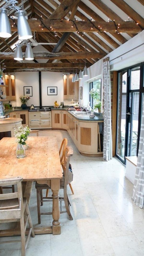 Rustic Natural Wood Kitchen