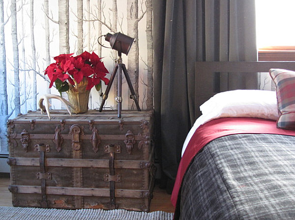 Rustic masculine bedroom