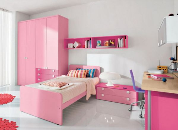 Sleek and stylish girls' bedroom ideal for the contemporary home