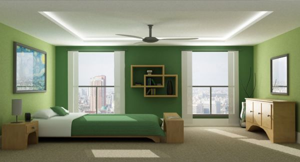 View In Gallery Sleek And Stylish Modern Bedroom In Green Part 90