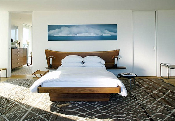 Sleek details in a masculine bedroom