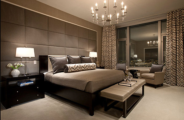 Sleek gray tones in a masculine bedroom