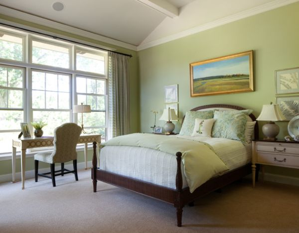 Softer tones and pale green shades are perfect for putting your mind at ease!