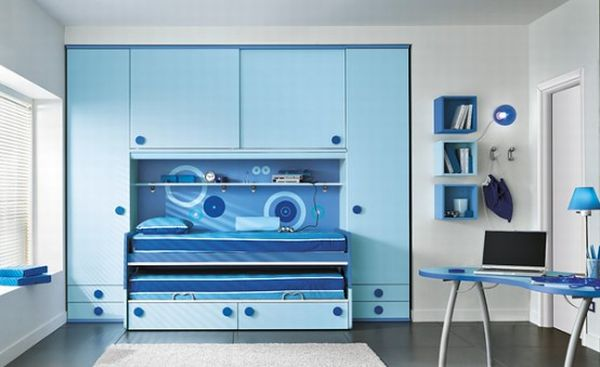30 cool and contemporary boys bedroom ideas in blue - Chambre garcon ado ...