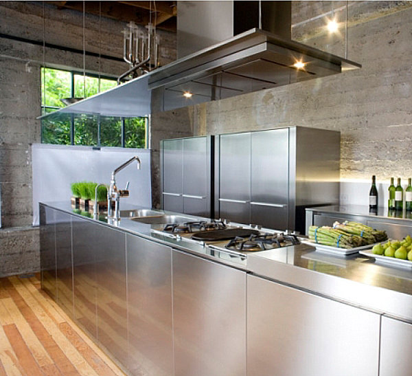 view in gallery stainless steel kitchen