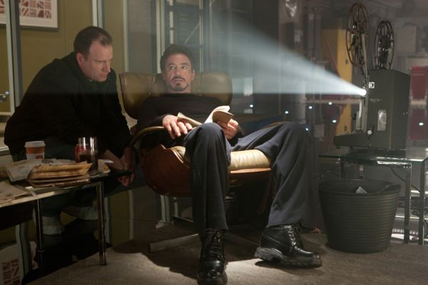 Still from Iron Man 2 Seating inspired by the Eames Lounger Inspiration Hollywood: Contemporary Interiors Sporting The Timeless Eames Lounge Chair