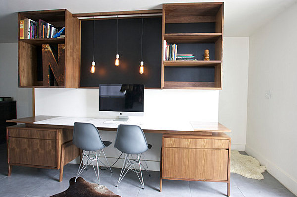Creative home office decorating ideas for Industrial modern office
