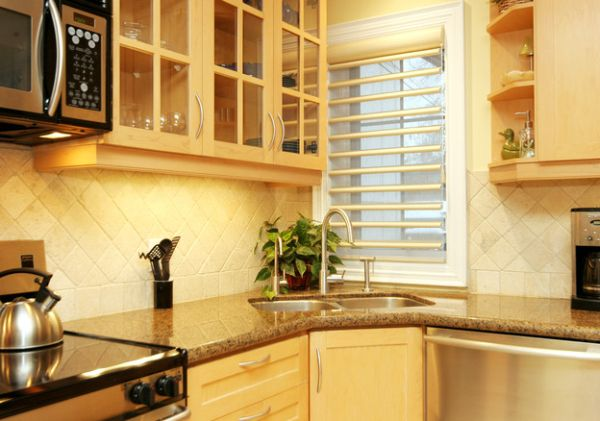 kitchen corner sinks design inspirations that showcase a different
