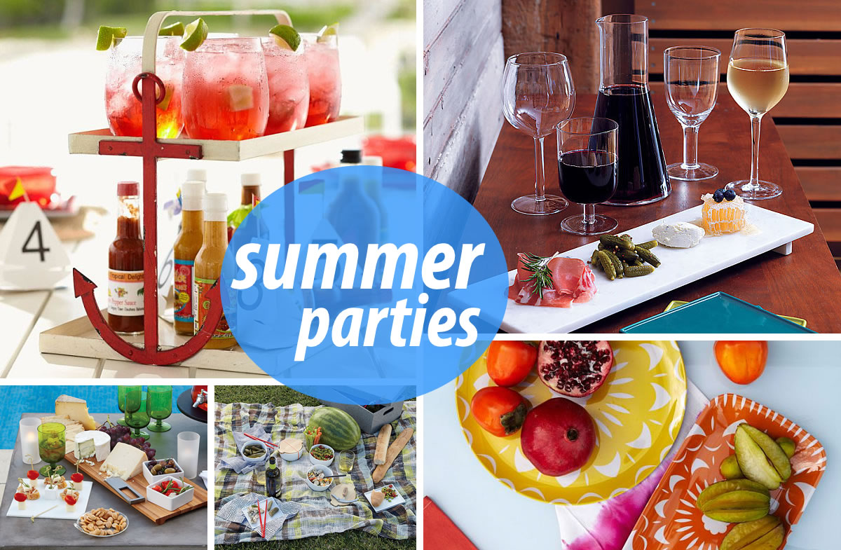 Summer parties 10 Stylish Serving Pieces for Summer Entertaining