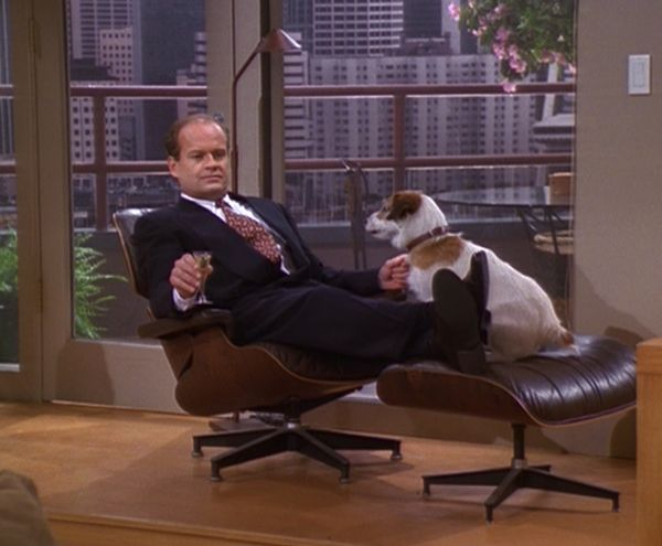The Eames Lounger was a regular on TV Show Frasier
