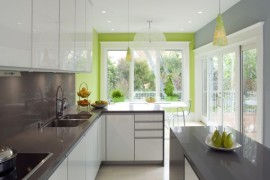 The green outside accentuates the tinge of apple green inside!