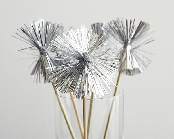 Tinsel swizzle sticks