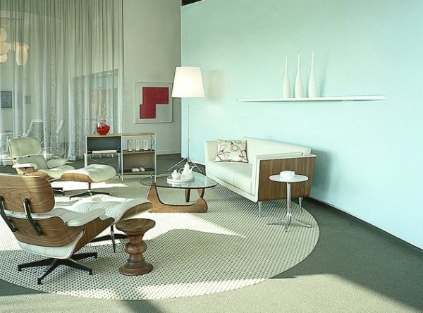 View In Gallery Twin Eames Loungers In White Ash Seem Perfect For This  Relaxed Family Room