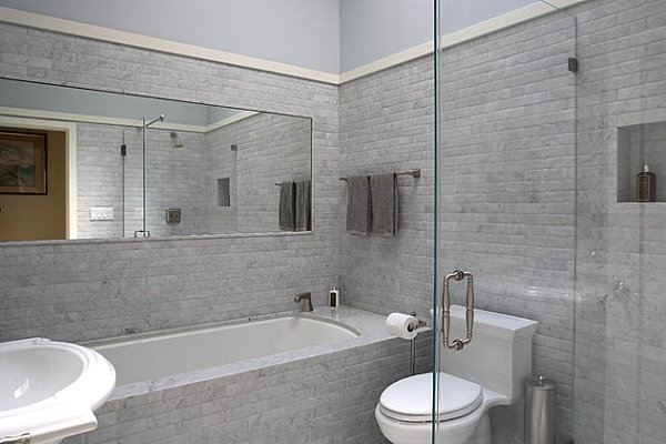 Unfussy touches in a masculine bathroom