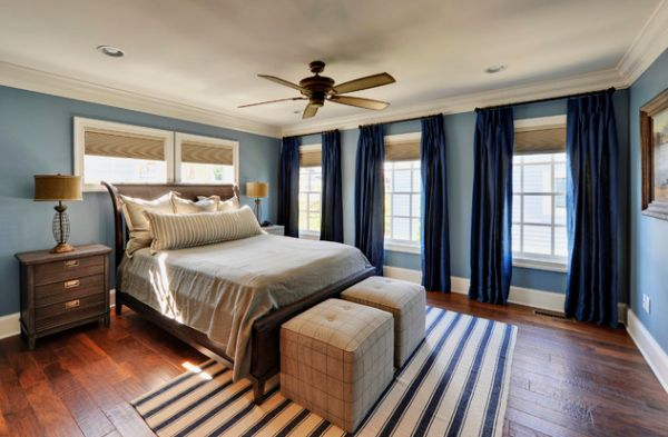 Use blue as an accent color to make your existing neutral interiors more colorful