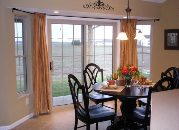 Use curtains to create a sense of grandeur and timeless charm