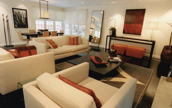 Using more than one accent color can often lead to a cluttered space visually