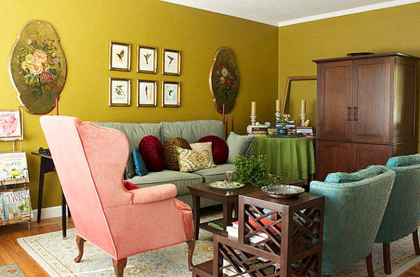 View In Gallery Vintage Eclectic Living Room
