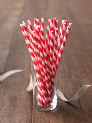 Vintage-inspired party straws