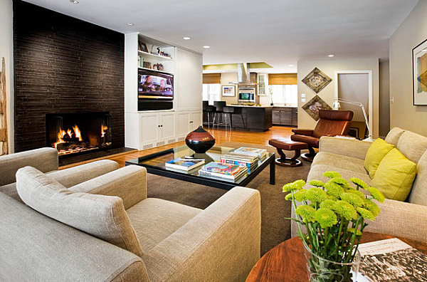 Warm textured living room