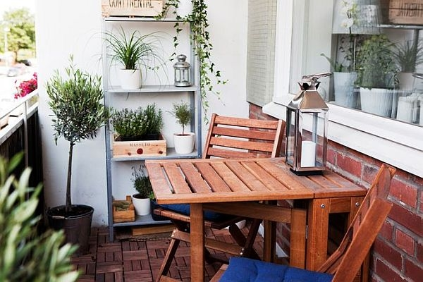 Small balcony design ideas photos and inspiration - Decoration petit balcon ...
