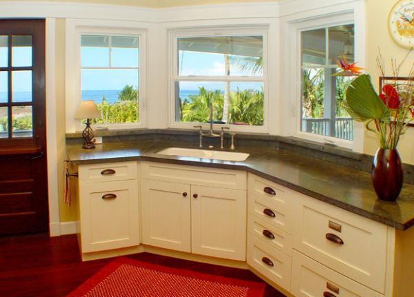 Kitchen corner sinks design inspirations that showcase a for Kitchen corner design