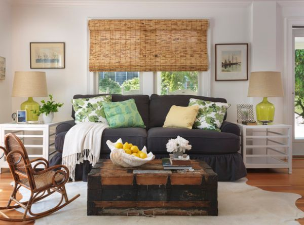 Woven wood shades offer a tinge of natural goodness