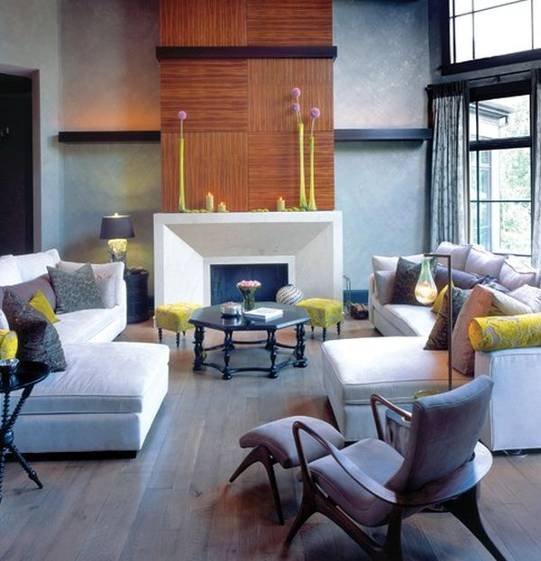 Yellow - Green accents are both subtle and contemporary