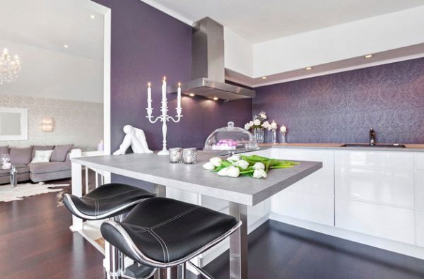 you can opt for milder shades of purple and violet in order to tone down on - Purple House Interior