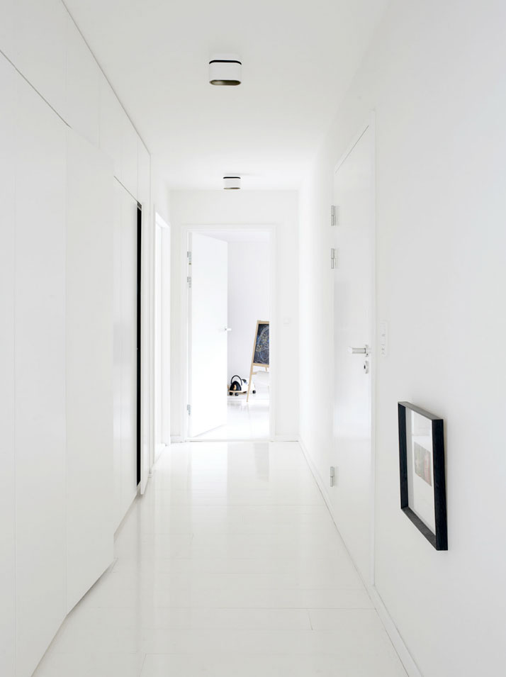 all white interior - danish design
