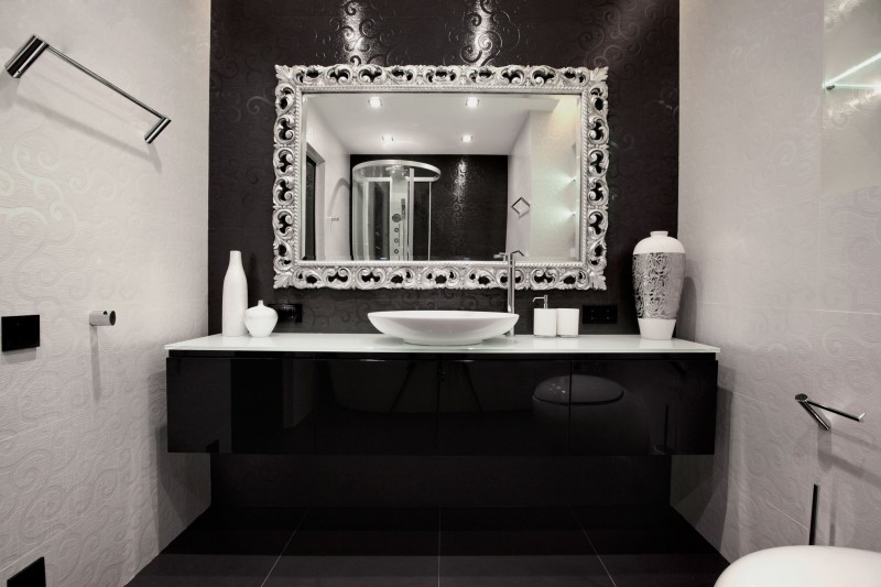 Black And White Bathroom Decor Ideas Best Black Bathroom Decor