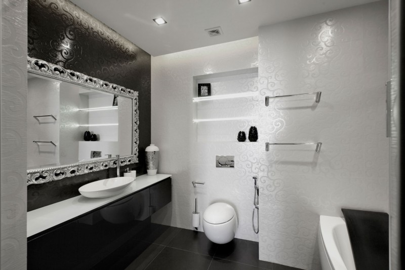 Beautiful Black And White Bathroom