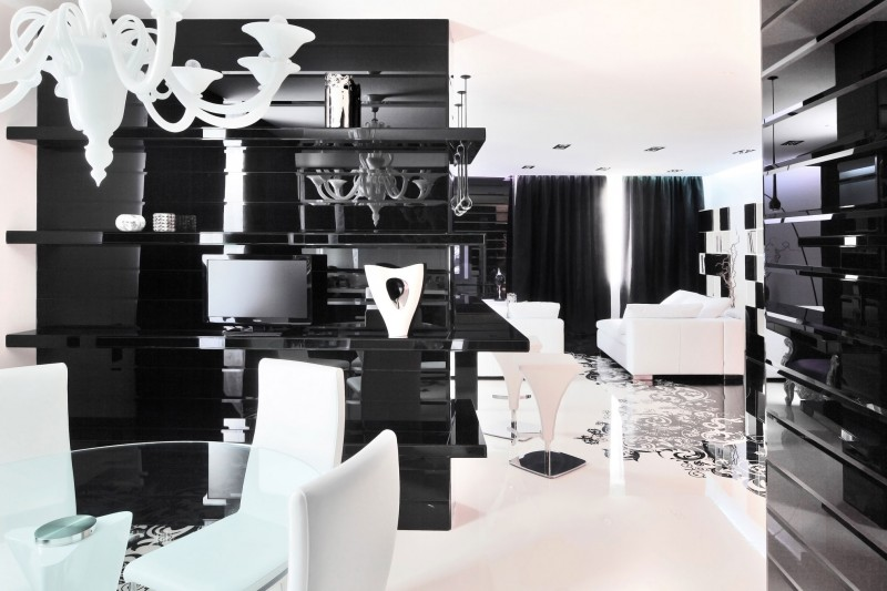black and white home design